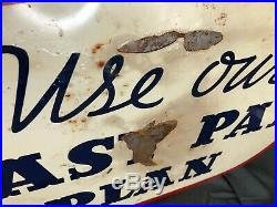 1939 Original Flange Sign General Tire Double Sided Vintage 25 Long Oil Gas