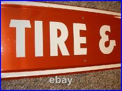 1960-1980 Nos Vintage Firestone Tire And Battery Service Sign Ford Mopar Gm