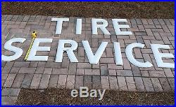 1960's Tire Service Goodyear Porcelain Letter Sign Vintage Gas Station 18