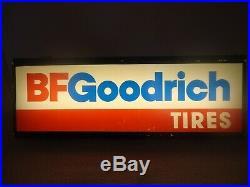 1960's VINTAGE BF GOODRICH TIRES LIGHTED SIGN