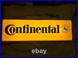 1970's, 1980's Vintage Continental Tire orig. Double sided lighted dealer sign