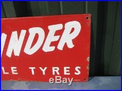 40197 Old Vintage Antique Enamel Sign Garage Bike Shop Bicycle Tires tyres Path