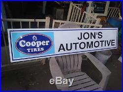 70 vintage Cooper Tires Jon's Automotive metal sign