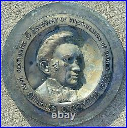 Antique Vintage Charles Goodyear Tires 1939 Sign Medallion Rare Auto History