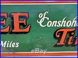 Antique Vintage LEE Tires of Conshohocken Advertising Sign Gas Oil Not Porcelain