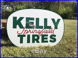 Antique Vintage Old Style Kelly Springfield Tires Sign