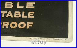 Antique vtg 1920 GOODYEAR Tires SHOE SOLES Football Game Sport TROLLEY SIGN Card