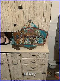 Bf goodrich Tire Sign Vintage Original Rusty Patina