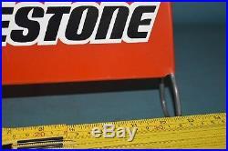 Bridgestone Vintage Tire Display Rack Stand Gas Station Service Red Dealer