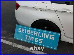 C. 1969 Original Vintage Seiberling Tires Metal Sign Gas Oil Soda Firestone RARE