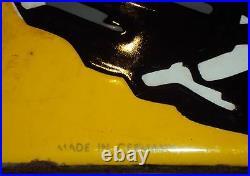 Continental Tire 1930 Old Vintage Porcelain Enamel Sign Extremly Rare Germany