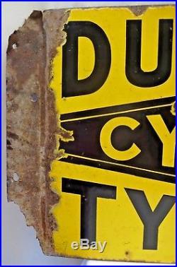 DUNLOP CYCLE TYRE ADVERTISE SIGN VINTAGE PORCELAIN IMPERIAL ENAMEL Co BIRMINGHAM