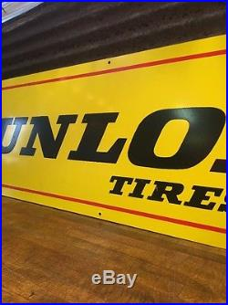 DUNLOP TIRES VINTAGE DOUBLE SIDED HORIZONTAL 4' X 1' RACK 3 Color Nice Oil