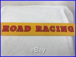 Dunlop Road Racing Cycle Tyre Vintage Garage Advertising Tin Shelf Strip Sign