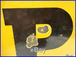 Dunlop Tire Advertising Sign Vintage Porcelain Enamel Gasoline Pump Colectible#8