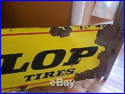 Dunlop Tires Vintage Double Sided Horizontal 3 Color 4'x1' Rack/service Sign