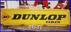 Dunlop Tires Vintage Double Sided Horizontal 3 Color Rack/service Sign