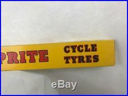 Dunlop Tourist Sprite Cycle Tyre Vintage Garage Advertising Tin Shelf Strip Sign