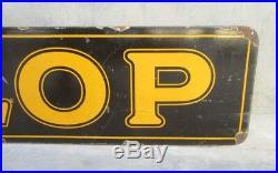 Dunlop Tyre Oil Gas Station Enamel Porcelain Sign Board Vintage Original Sign