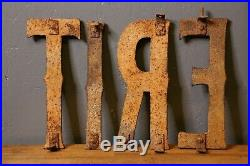 Early Cast Iron Tire Sign Garage Gas Station Antique Letters Trade Sign Old Vtg