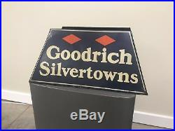 Early Vintage Goodrich Silvertowns Advertising Tire Display Stand Sign