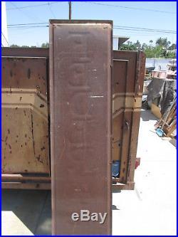 Federal Tire Sign Prewar 5-41 19x73 hvy sht mtl WWll Gas Oil Advertising Vintage