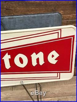 Firestone Tire Rack Gas Oil Vintage Antique Signs Decor Garage