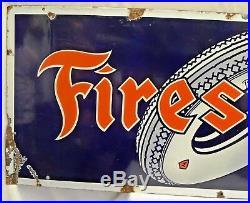 Firestone Tire Sign American Advertise Vintage Enamel Porcelain Collectibles Old