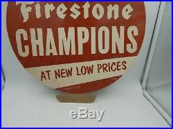 Firestone Tires Vintage Sign Firestone Champions 16 Cardboard