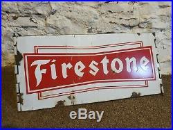 Firestone Tyre Stand Enamel Sign Vintage Automobilia Garage Motoring
