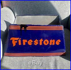Firestone Vintage Tire Rack Display 1920 1930 Gas Station Sign A. C. Co. 71-A8