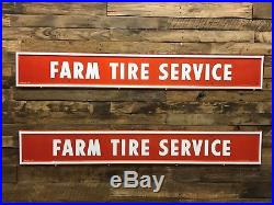 Firestone tire service signs. Painted tin vintage