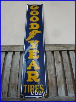 GOODYEAR porcelain sign advertising vintage logo 39 oil old tires tire shop