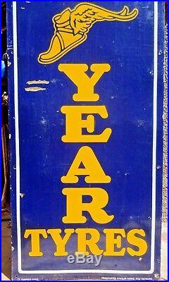 Good Year Tire Vintage Advertise Sign Porcelain Enamel Germany Neu Isenburg # 22