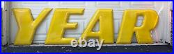 GoodYear Original Vintage Porcelain Winged Foot And Letters Sign
