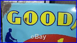 Goodyear Vintage 1930' Indian Cycle Tire Tyre Tubes Garage Enamel Sign 18x24