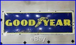 Goodyear sign Vintage Goodyear tire enamel porcelain Goodyear tyre enamel sign