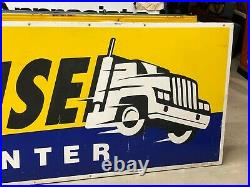 HUGE 10' Vintage ORIGINAL GOODYEAR TRUCK TIRE Sign Gas Oil SEMI OLD Big Rig RARE
