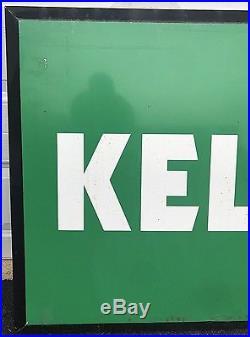 Huge VTG All Metal KELLY TIRES Sign Advertising 7' Long