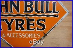 John Bull tyre vintage garage enamel sign