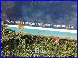 LARGE VinTagE 6' B. F. GOODRICH TIRES BATTERIES Sign Gas Oil Car Truck Hot Rod 52