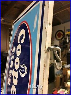 Large Vintage 1970's Cooper Tires Large Truck Service Gas Oil 70 Metal Sign