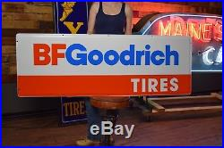 Large Vintage 1980's B. F. Goodrich Tires Gas Station Metal Sign NOS 5ft WOW