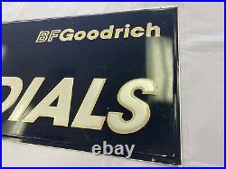 Large Vintage B. F. Goodrich T/A Radials Embossed Metal Sign