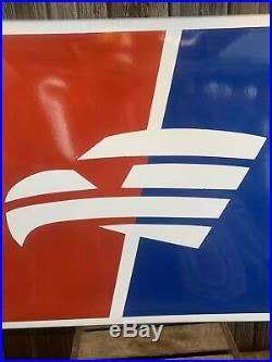 Large Vtg 70s Goodyear Eagle 36 x 31 SSP Porcelain Advertising Tire Sign RARE