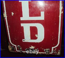 Mansfield Tyres Service Station Old Vintage 6 Ft Huge Porcelain Sign Rare 1930