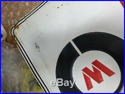 McCreary Tires Sign Vintage Metal Garage Shop Decor Gas Oil 48x18 embossed