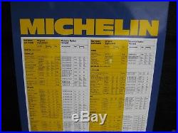 Michelin Garage Metal Vintage Tyre Pressure Sign New Old Stock 1978 Rare 40years