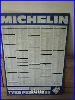 Michelin tyre pressure sign. Goodyear. Dunlop. Vintage sign. Tyre sign