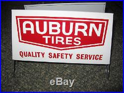 NOS Vintage Auburn Tire Display Stand Sign